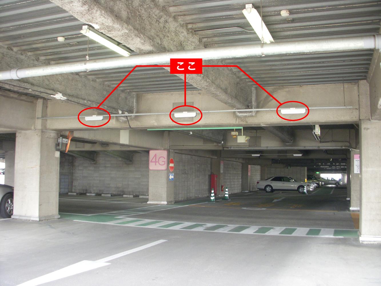 的確に車両をカウントできる。天井取付型なので既存現場にも取り付け出来る。